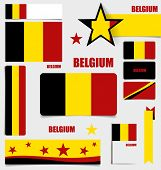 Collection of Belgium Flags, Flags concept design. Vector illustration.