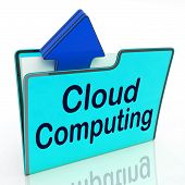 Cloud Computing Means Network Server And Business