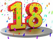 Anniversary Eighteen Represents Birthday Party And 18Th