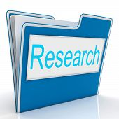 Research File Indicates Gathering Data And Studies