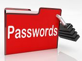 File Passwords Means Log Ins And Access