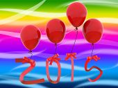 New Year Represents Two Thousand Fifteen And 2015