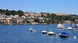 stock photo of dartmouth  - Dartmouth town by the river Dart in Devon - JPG