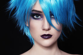 picture of gothic hair  - Close - JPG