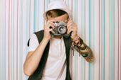 Young Guy Photographer Hipster