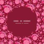 Vector ruby circle frame seamless pattern background