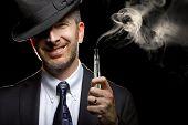 Male Vaping E-Cigarette
