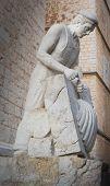Binissalem stone mason sculpture