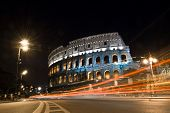 Colosseum in at Night, Rome, Italy