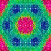Vector Kaleidoscope Pattern