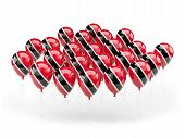 Balloons With Flag Of Trinidad And Tobago