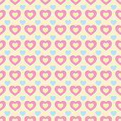 Colorful retro hearts seamless Valentine