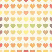 Colorful rainbow retro hearts background