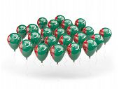Balloons With Flag Of Turkmenistan