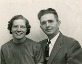 CANADA - CIRCA 1950s: An antique photo shows portrait of a happy couple.