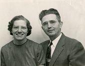 CANADA - CIRCA 1950s: An antique photo shows portrait of a happy couple.