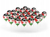 Balloons With Flag Of Western Sahara