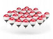 Balloons With Flag Of Yemen