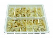 Chinese Dumplings Isolated A White Background