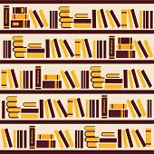 Vector Abstract Bookshelf- Illustration