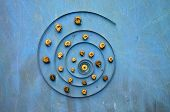 Big Clock Spring Spiral And Snail Shells Concept