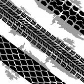 Abstract background tire prints