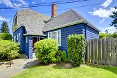 Clapboard Siding House In Blue Color