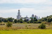 View On The St. George's Monastery In Veliky Novgorod, Russia
