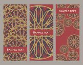 Set Of Decorative Banners