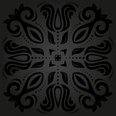 Black Orient Seamless Pattern. Abstract Background