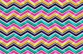 Pink Yellow And Blue Zig Zag Seamless Pattern
