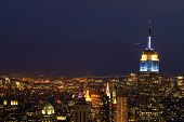 New York City at nightime