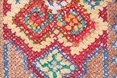 Cross Stitch Needlework Close Up