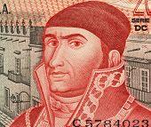 MEXICO - CIRCA 1977: Jose Maria Morelos