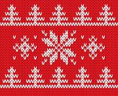 Knitted holiday pattern. Vector illustration.