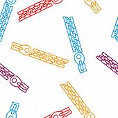 Colorful zip locker seamless pattern