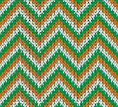 Retro Style Seamless Knitted Pattern.  Vector