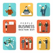 Business Peoples Flat Vector Illustrations, Purchasing Work, Contract, Agreement, Business Concept.