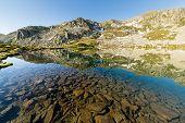 Transparent Alpine Lake