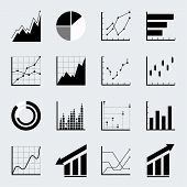 Set of Infographic Chart and Graph Icons