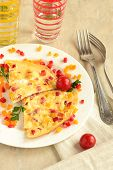Omelette with sweet peppers