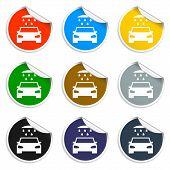 Car Wash, Web Icon.