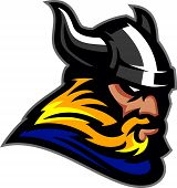 stock photo of viking  - This is a Viking head created with smooth vector lines - JPG