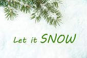Let it snow, greeting card