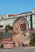 interesting sculpture in center of Stepanakert