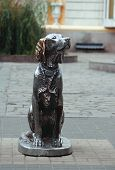 Monument to the Dog named White Bim Black Ear in Voronezh
