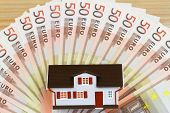 House on banknotes