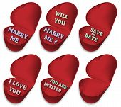 image of marriage proposal  - Half opened hearts - JPG