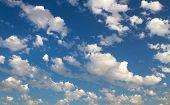 Clouds In The Blue Sky.