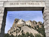 stock photo of mount rushmore national memorial  - A view of Mt Rushmore - JPG